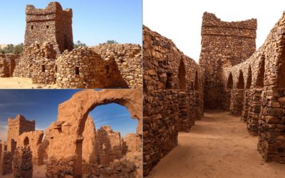 West Africans built in stone by 1100 BC. One of the oldest known historical sites